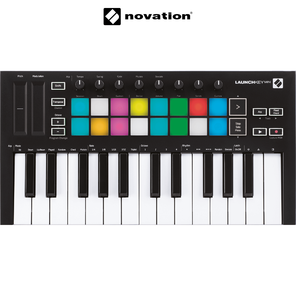Novation Launchkey Mini Mk3 - 미니 25키 / USB 미디  컨트롤러