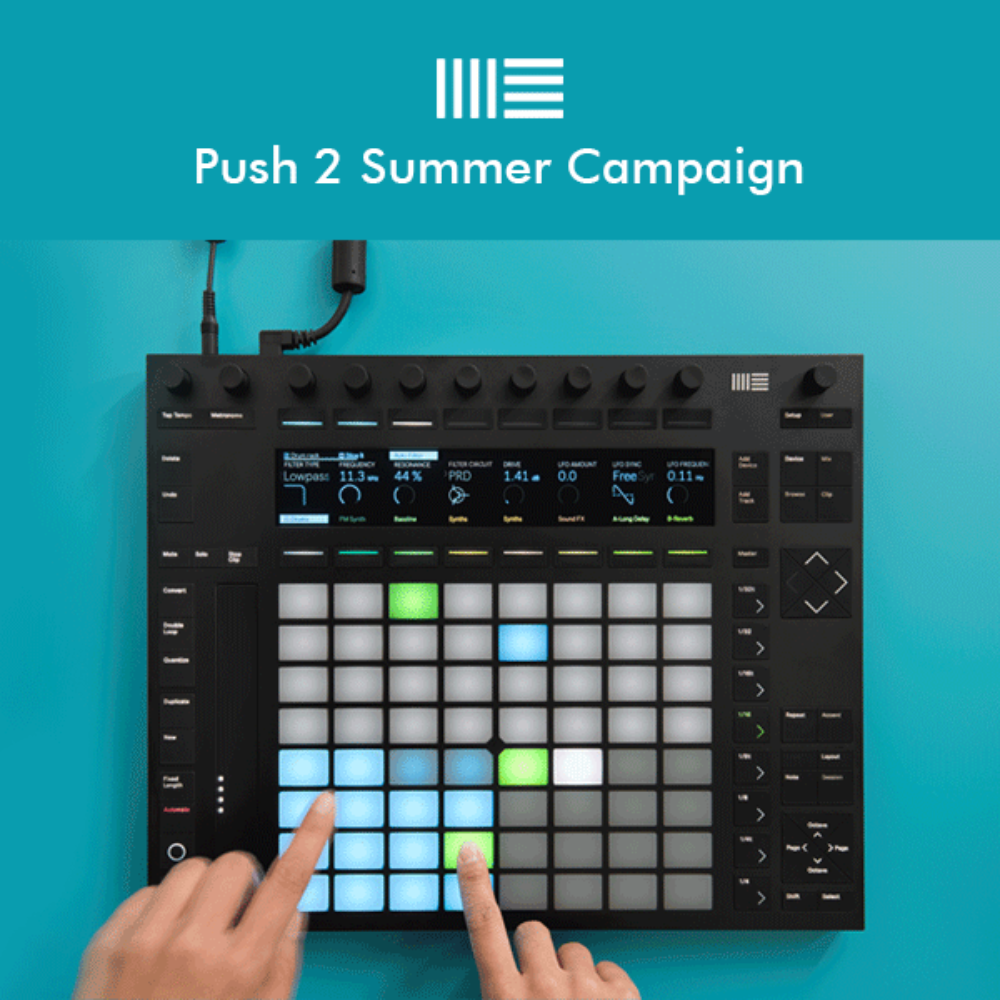 [세일] Ableton Push 2 + Live 10 Suite Bundle (다운로드 버전)