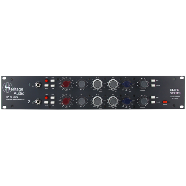 Heritage Audio HA73EQX2 Elite - 2채널 마이크 프리 & EQ