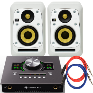 UA Apollo Twin X Duo x KRK V4 S4 화이트 스피커 패키지