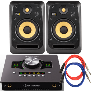UA Apollo Twin X Duo x KRK V6 S4 스피커 패키지