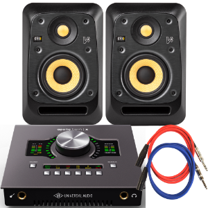 UA Apollo Twin X Duo x KRK V4 S4 스피커 패키지
