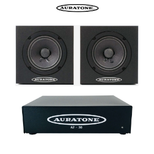 Auratone The 5C Super Sound Cube 블랙 + A2-30 앰프 번들 패키지